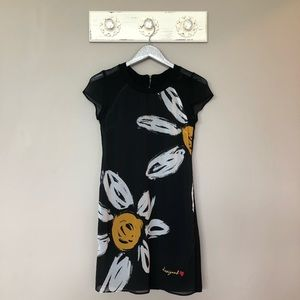 Desigual | Black and Daisy Print Dress
